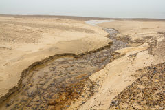 Water creek in sand Stock Photo