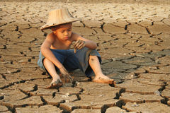 Water Crisis And Children Royalty Free Stock Image