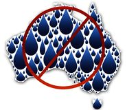 Water crisis in Australia. A conceptual illustration depicting water in Australia Royalty Free Stock Images