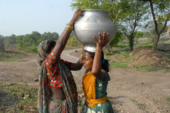 Water Crisis in Jharia Stock Image