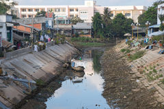 Water crisis in the Mekong Delta Royalty Free Stock Images
