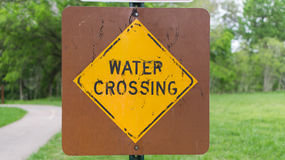 Water Crossing Sign Stock Images