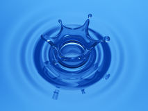 Water Crown. Perfect Water Crown blue water Royalty Free Stock Image