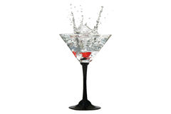 Water crown in cocktail glasses Royalty Free Stock Photo