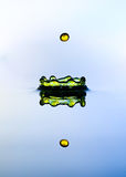 Water crown and color drop. Water crown and color drop,and reflection Stock Image