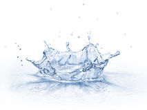 Water crown splash,  on white background. Royalty Free Stock Photography