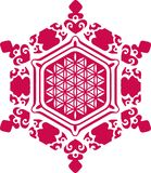 Water crystal - flower of life - Emoto vector illustration
