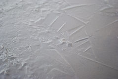 Water crystals. Beginning crystallization water at sub-zero temperatures Royalty Free Stock Images