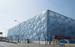Water Cube. Beijing Olympic Park was built in 2008 Olympic Games, the National Sports Aquatics Center Royalty Free Stock Photography