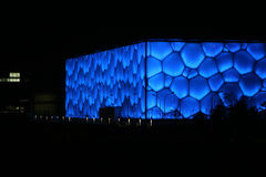 Water Cube. The National Aquatics Center for Beijing 2008 Olympic Games, nicknamed the Water Cube Stock Photography