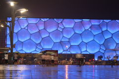 Water Cube in Beijing. The National Aquatics Center for Beijing 2008 Olympic Games, nicknamed the Water Cube Stock Photo