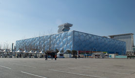 Water Cube in china. Water Cube Beijing Olympic Park was built in 2008 Olympic Games, the National Sports Aquatics Center Royalty Free Stock Image