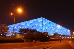 The Water Cube. On the light Stock Images