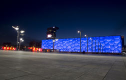 Water Cube in night Stock Photography