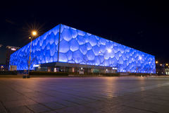 Water Cube in night Royalty Free Stock Images