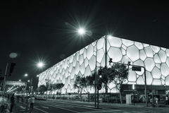 Water Cube (swimming pool). National Aquatics Center for the Beijing 2008 Olympic Games (also known as the Water Cube),This photo was taken in May 2014 Stock Photos