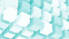 Water Cubes Abstract Background Stock Photo