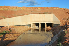 Water culvert Royalty Free Stock Images