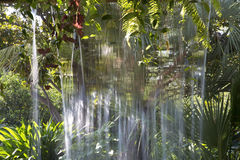 Water curtain in Dallas Arboretum Royalty Free Stock Image