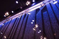 Water curtain system. Background picture Stock Photo