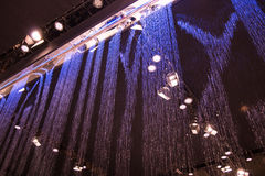Water curtain system. Background picture Stock Photography