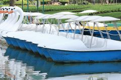 Water cycle boat in Suanluang RAMA IX Public Park Stock Photos