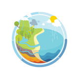 The Water Cycle Illustration Royalty Free Stock Photography
