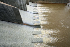 Water from dam Royalty Free Stock Images