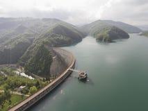 Water dam aerial Stock Photo