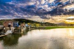 Water dam stock image