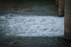 Water in the dam Royalty Free Stock Image