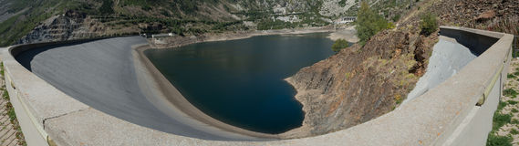 Water Dam, Heart shaped lake. Water dam with heart shaped lake Royalty Free Stock Photography