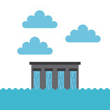 Water dam icon Royalty Free Stock Images