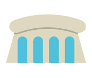 Water dam isolated icon design Royalty Free Stock Photos