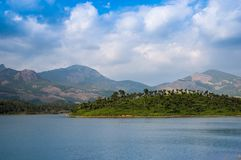 Water Dam in the mountains royalty free stock photo
