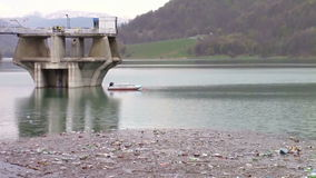 Water dam pollution stock video