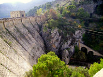 Water dam the Tranco Reservoir, Tranco de Beas Royalty Free Stock Images