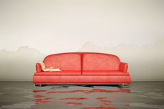 Water damage sofa Stock Images
