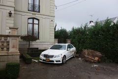 Water damaged car in the aftermath of Hurricane Sandy in Far Rockaway, New York Stock Photos