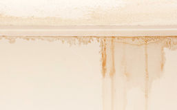 Water damaged ceiling and wall Royalty Free Stock Photography