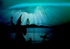 Water, Darkness, Sky, Sea Royalty Free Stock Photos