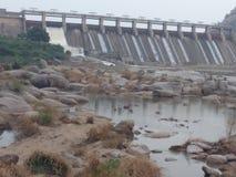 Water deam at jawaidhandh. Dam sunlight ston Stock Photo