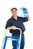 Water Delivery - Cheerful Stock Image