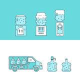 Water delivery collections Stock Image
