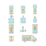 Water delivery collections Royalty Free Stock Photography