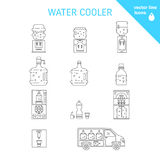 Water delivery collections Royalty Free Stock Images