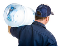 Water Delivery Rear View Royalty Free Stock Image