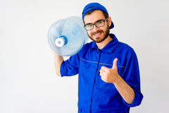 Water delivery service Royalty Free Stock Image