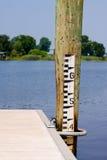 Water Depth Gauge Stock Image