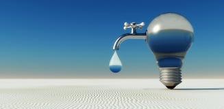 water in desert Stock Photos